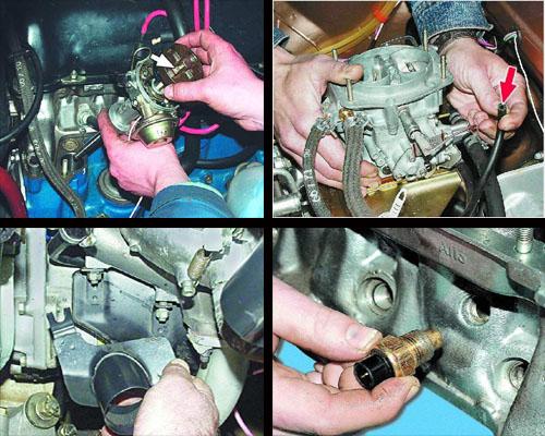 демонтаж деталей при замене прокладки головки блока