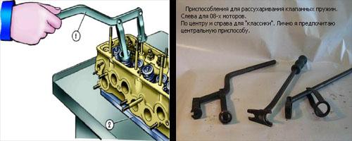 замена маслосъемных колпачков на автомобиле шестерка