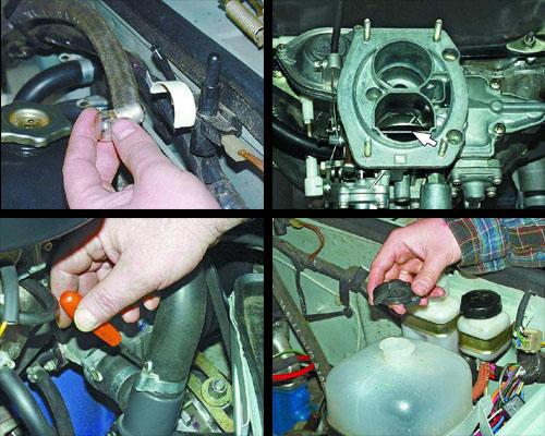 необходимая последовательность действий при снятии двигателя