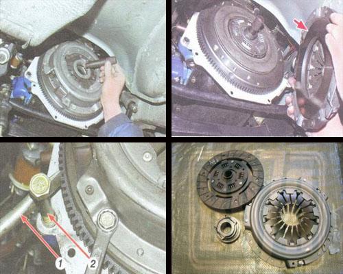 замена сцепления ваз 2106 снятие и последующая установка