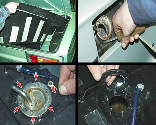 снятие и установка топливного бака на автомобиле ваз 2106 своими руками