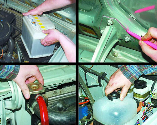 снятие установка двигателя ваз 2106