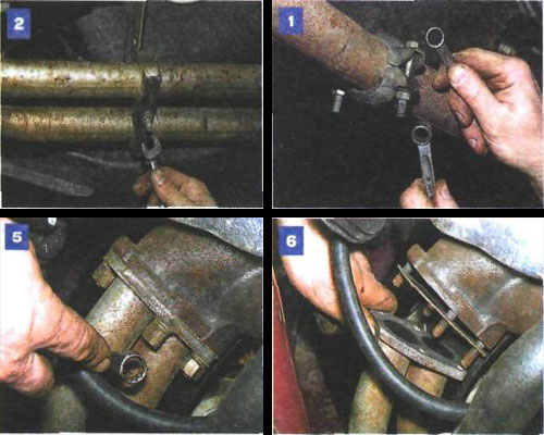 замена приемной трубы на автомобиле ваз 2106