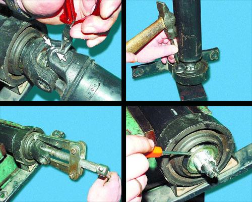 разборка и сборка карданной передачи ваз 2106