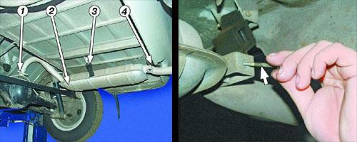 замена основного глушителя ваз 2106