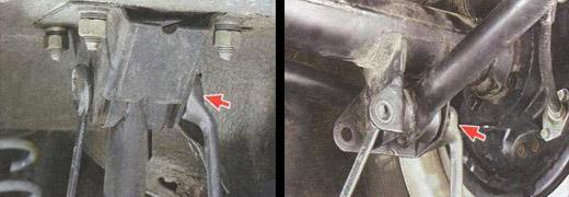 снятие нижней продольной штанги задней подвески ваз 2106