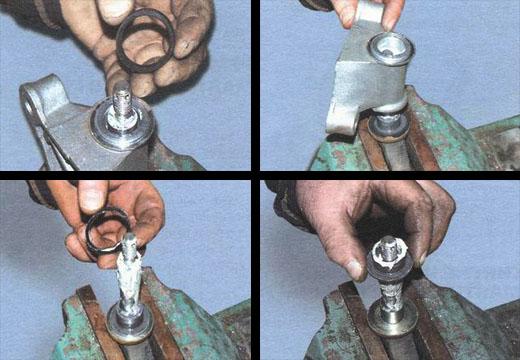 разборка и сборка маятникового рычага ваз 2106