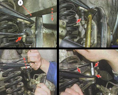 замена верхней шаровой опоры автомобиля ваз 2106
