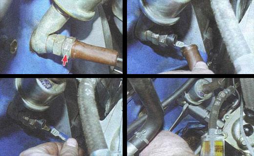 замена датчика контрольной лампы давления масла в двигателе автомобиля ваз 2106