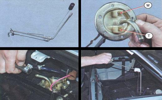 Датчик уровня топлива ваз 2106 расположен в топливном баке автомобиля.  Датчик состоит из.