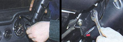 снятие и установка комбинации приборов на автомобиле ваз 2106