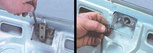осуществляем замену крышки багажника ваз 2106