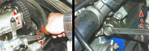 натяжение цепи привода распределительного вала на автомобиле ваз 2106