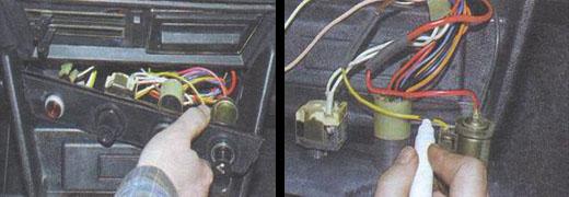 замена приборов на дополнительной панели управления ваз 2106