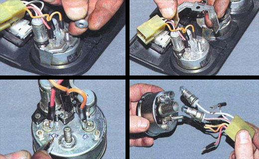 ремонт комбинации приборов ваз 2106 замена указателя уровня топлива