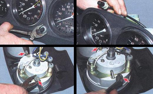 автомобиль ваз 2106 ремонтируем комбинацию приборов