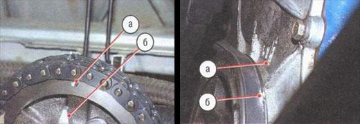 устанавливаем поршень четвертого цилиндра в положение вмт