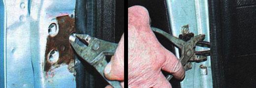 снятие и установка дверей ваз 2106