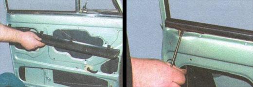 замена поворотных форточек передних дверей на автомобиле ваз 2106