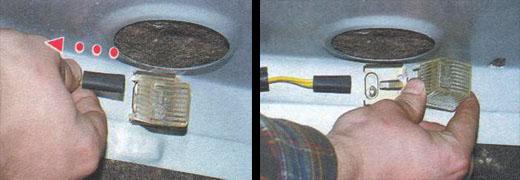 замена лампы освещения багажника ваз 2106