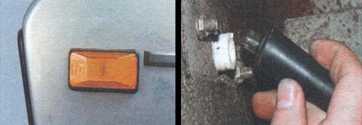 замена ламп бокового указателя поворотов ваз 2106