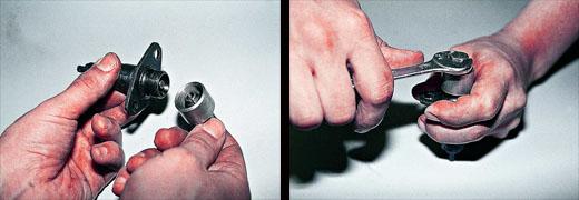 автомобиль ваз 2106 меняем натяжитель цепи привода распредвала