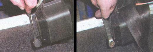 снятие и установка ремней безопасности ваз 2106