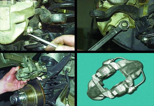 снятие суппорта переднего тормозного механизма ваз 2106