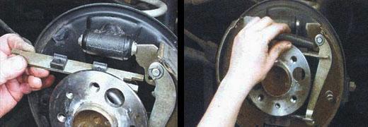 замена задних тормозных колодок ваз 2106