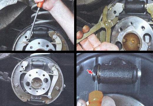 замена защитных колпачков рабочего цилиндра ваз 2106