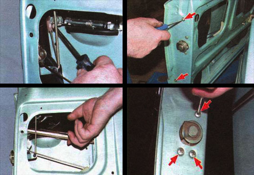 меняем наружную ручку и замок передней двери