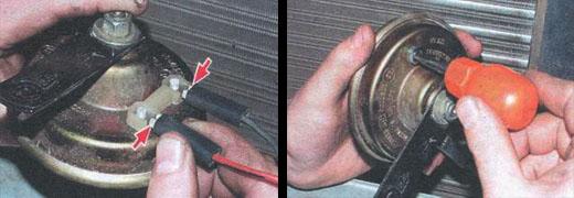 регилировка звукового сигнала ваз 2106