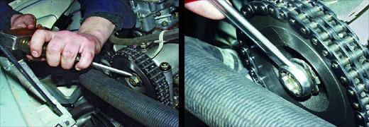 замена цепи привода распределительного вала автомобиля ваз 2106