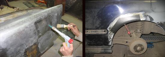 применение кузовного припоя для ремонта ваз 2106