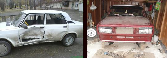 неисправности кузова ваз 2106 автомобиля и их причины