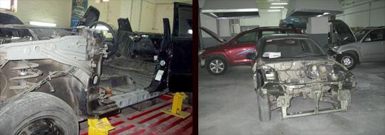 ремонт механических повреждений кузова ваз 2106