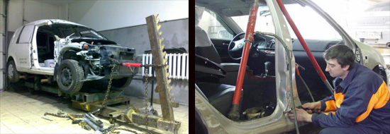 силовое оборудование для ремонта кузова