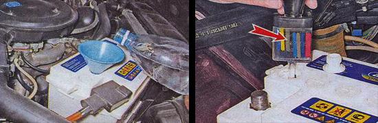 техническое обслуживание аккумуляторной батареи ваз 2107