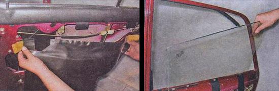 замена бокового стекла задней двери ваз 2107