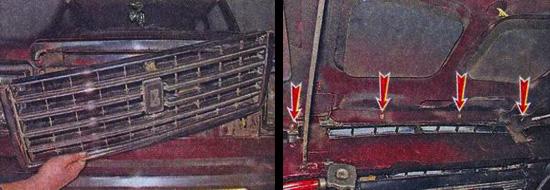 замена решетки радиатора ваз 2107