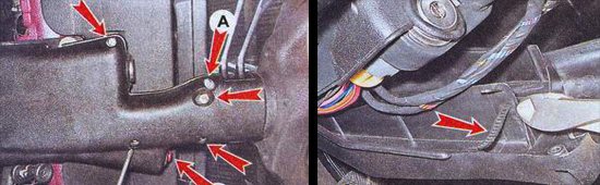 снятие кожуха рулевого вала ваз 2107