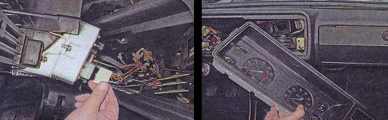 снятие панели приборов ваз 2107