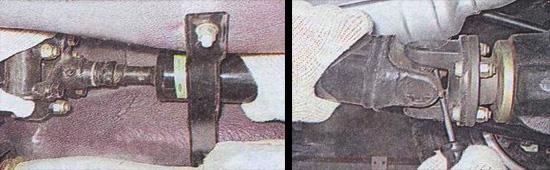 проверка карданной передачи ваз 2107