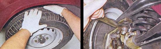 проверка технического состояния передней подвески автомобиля ваз 2107