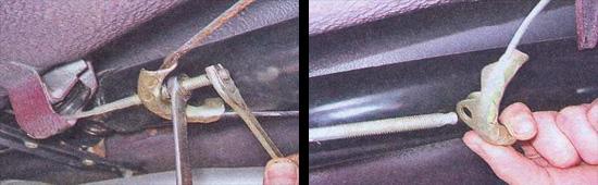 разборка стояночного тормоза ваз 2107