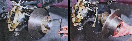 разборка переднего тормозного механизма переднего колеса ваз 2107
