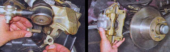 разборка переднего тормозного механизма ваз 2107