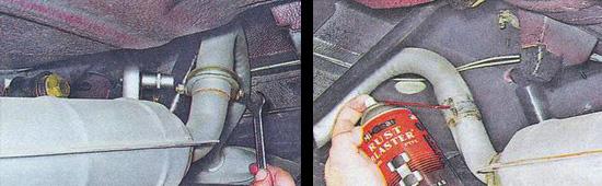 замена дополнительного глушителя ваз 2107