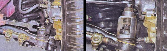 снятие рулевых тяг ваз 2107