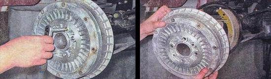 задние тормозные колодки ваз 2107